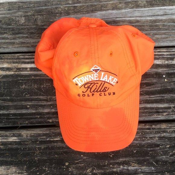 Imperial Orange Adjustable Golf Hat / Baseball Cap
